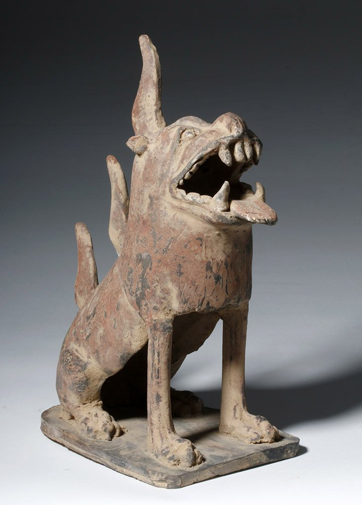 Fine Chinese Han Dynasty Pottery Tomb Guardian