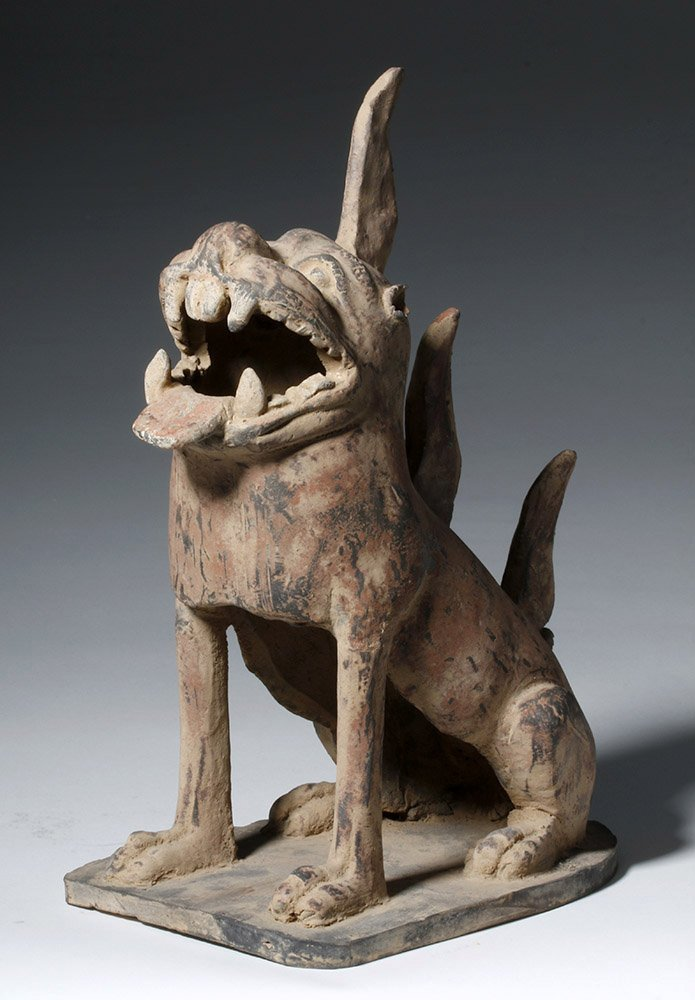 Fine Chinese Han Dynasty Pottery Tomb Guardian - 4