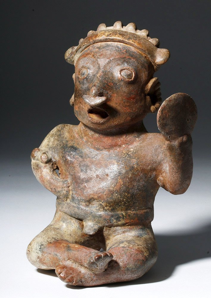 Nayarit Pottery Seated Warrior, ex-Arnovick - 4