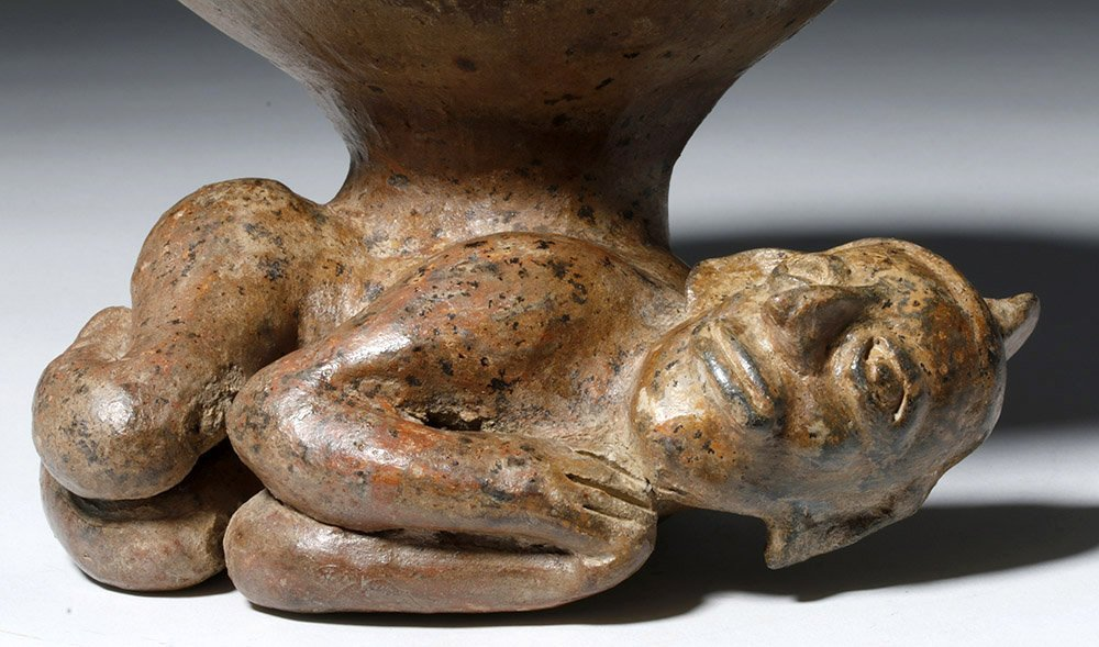Jalisco Pottery Incensario w/ Prone Shaman Figure - 5