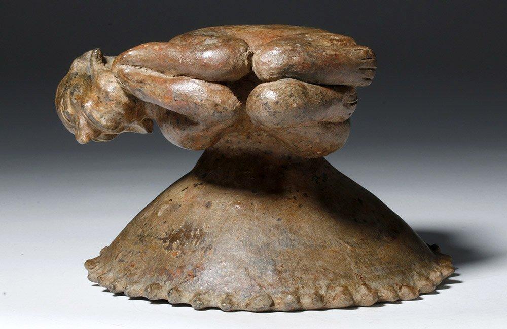 Jalisco Pottery Incensario w/ Prone Shaman Figure - 7