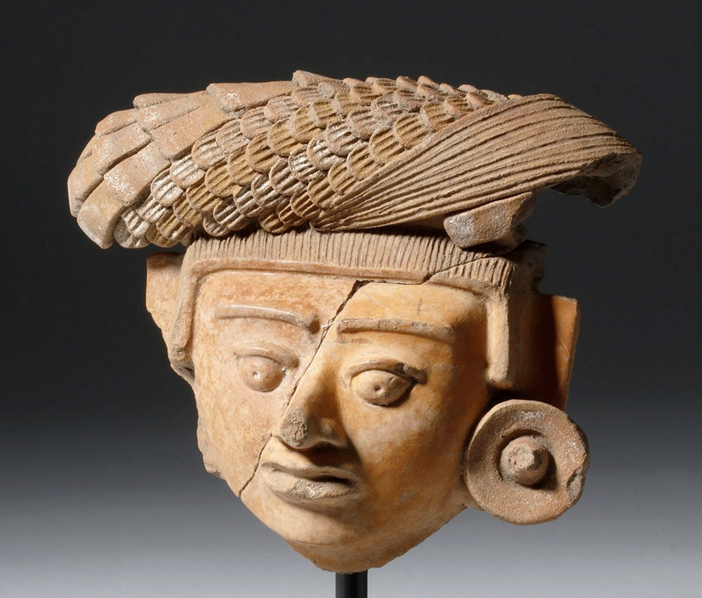 Superb Mayan Face of a Lord or Corn God