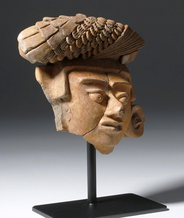 Superb Mayan Face of a Lord or Corn God - 4