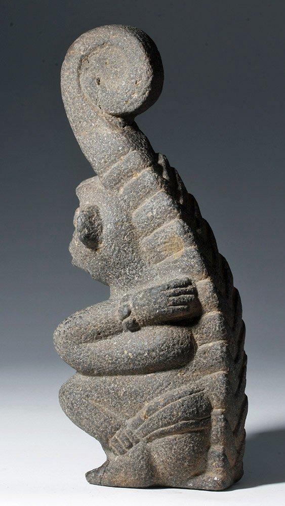 Superb Mayan Carved Basalt Monkey Sculpture - 2