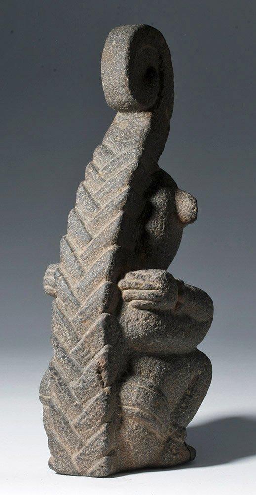 Superb Mayan Carved Basalt Monkey Sculpture - 3
