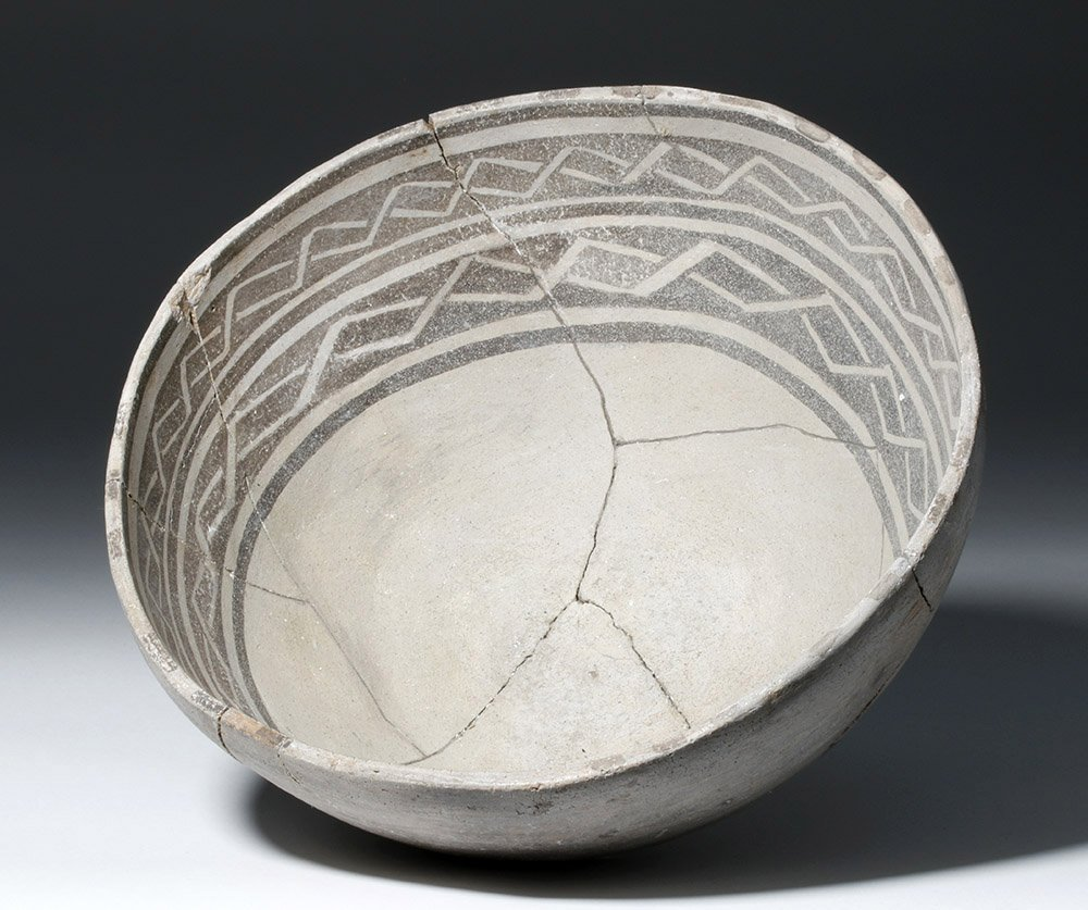 Anasazi Mogollon Springerville Black-on-White Bowl - 2