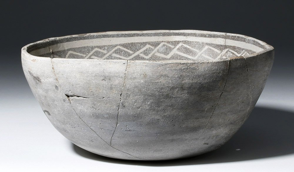 Anasazi Mogollon Springerville Black-on-White Bowl - 3