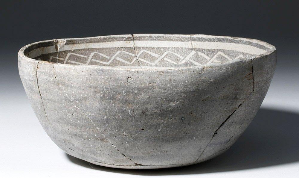 Anasazi Mogollon Springerville Black-on-White Bowl - 4