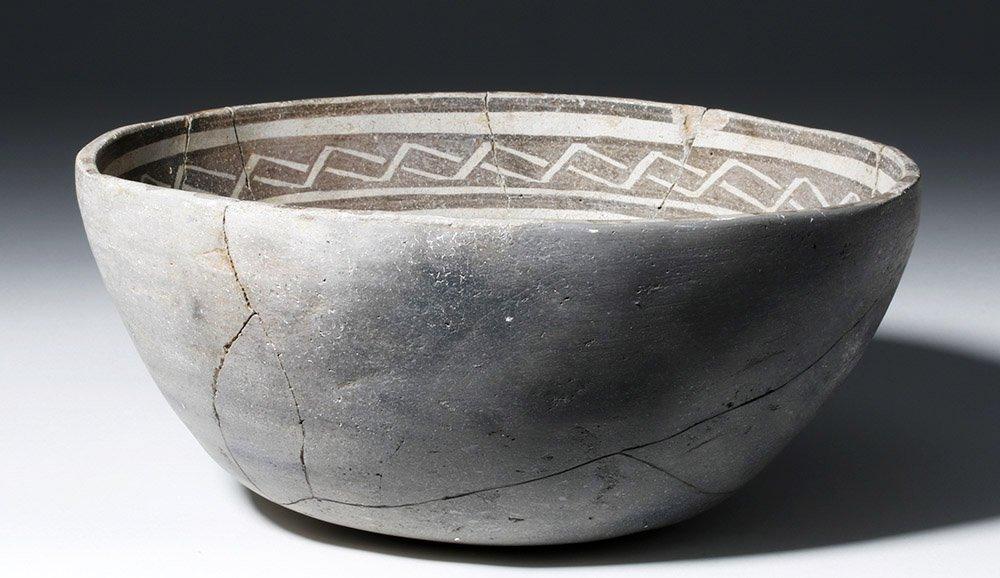 Anasazi Mogollon Springerville Black-on-White Bowl - 5