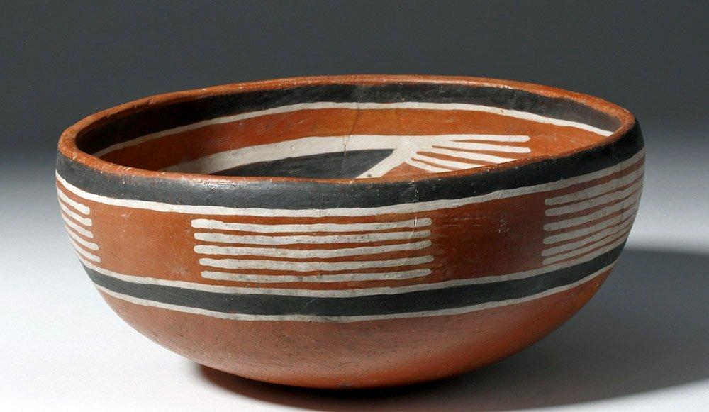Anasazi Fourmile Polychrome Bowl w/ Insect - 2