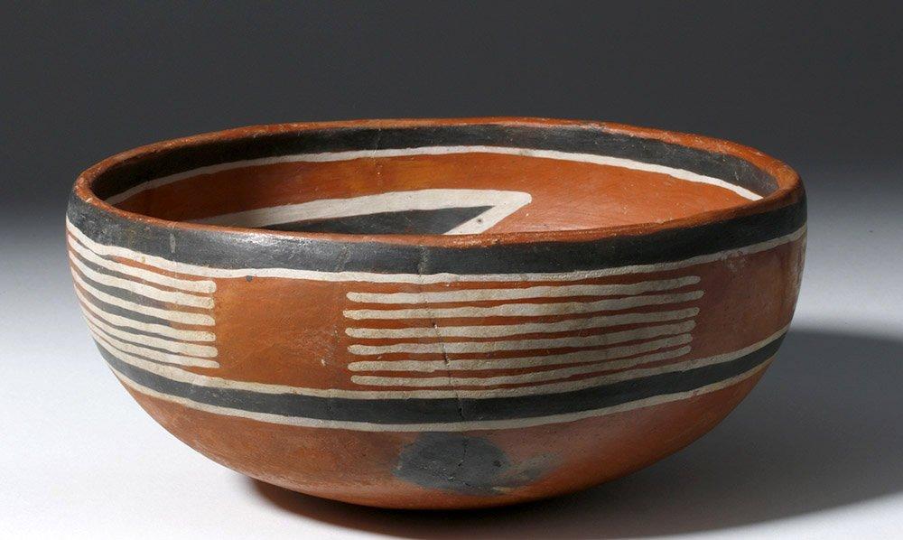 Anasazi Fourmile Polychrome Bowl w/ Insect - 4