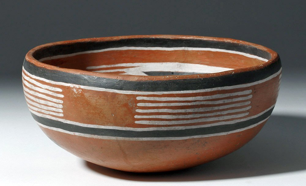 Anasazi Fourmile Polychrome Bowl w/ Insect - 5