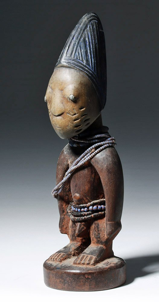 African Ibeji Wooden Male Twin Figure