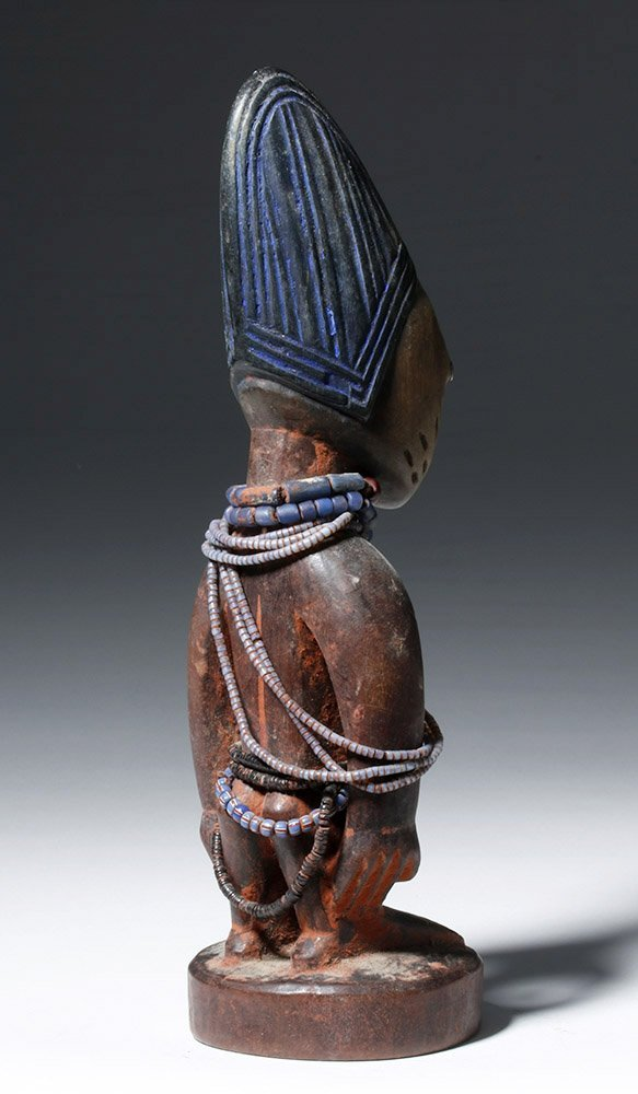 African Ibeji Wooden Male Twin Figure - 3