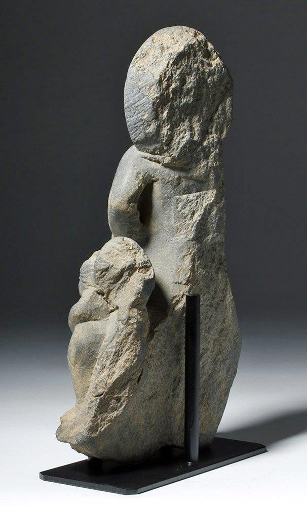 Important  Gandharan Schist Statue of Kanishka - 2