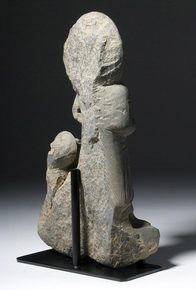 Important  Gandharan Schist Statue of Kanishka - 3