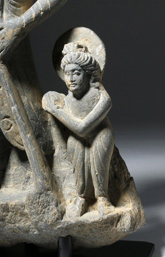 Important  Gandharan Schist Statue of Kanishka - 6