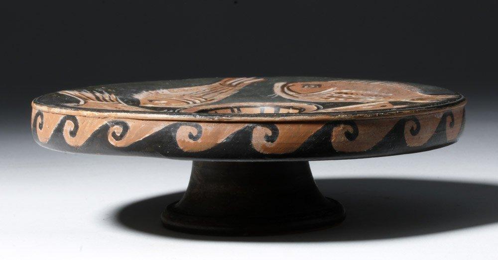 Greek Apulian Red-Figure Pottery Fish Plate - 2