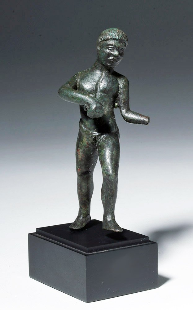 Etruscan Bronze Nude Male Athlete