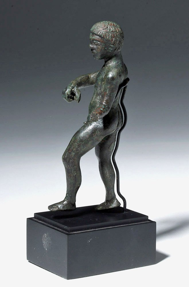 Etruscan Bronze Nude Male Athlete - 2