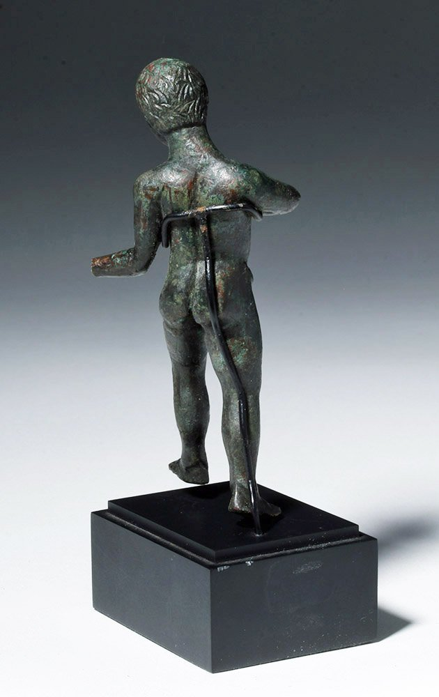 Etruscan Bronze Nude Male Athlete - 3