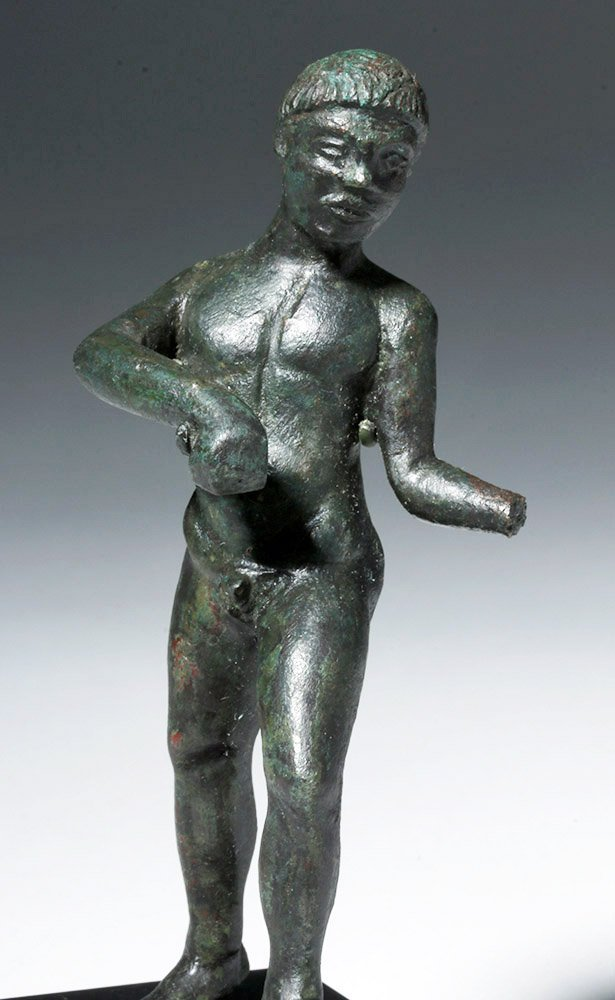 Etruscan Bronze Nude Male Athlete - 5