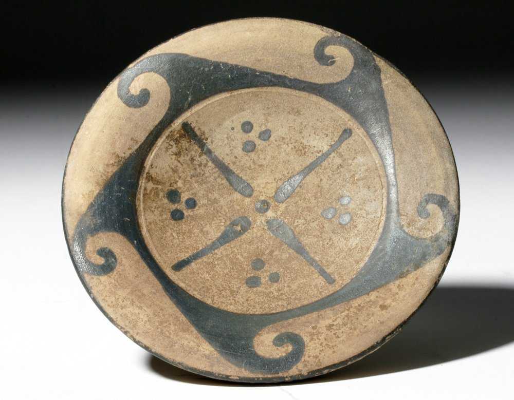Etruscan Pottery Spiral Wave Plate