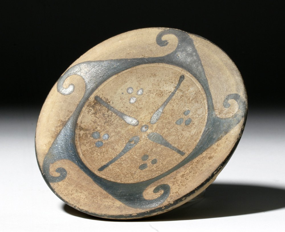 Etruscan Pottery Spiral Wave Plate - 2