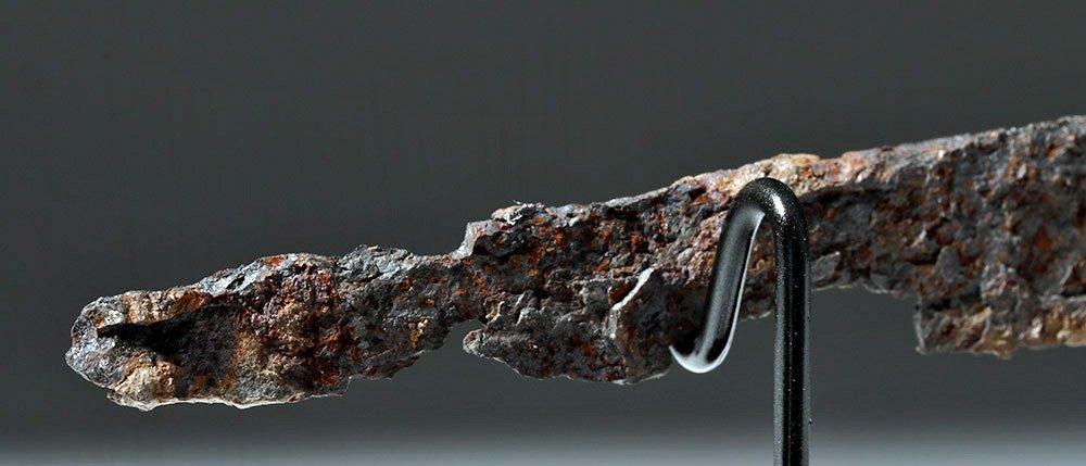 Rare Roman Bronze and Bone Folding Knife Lion Handle - 7