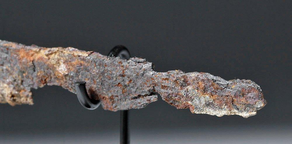 Rare Roman Bronze and Bone Folding Knife Lion Handle - 8