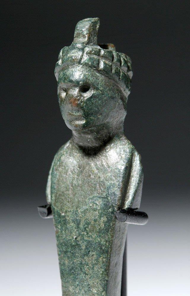 Roman Bronze Herm Pendant - 5