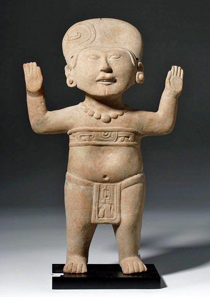 Large & Fine Veracruz Pottery Standing Sonriente