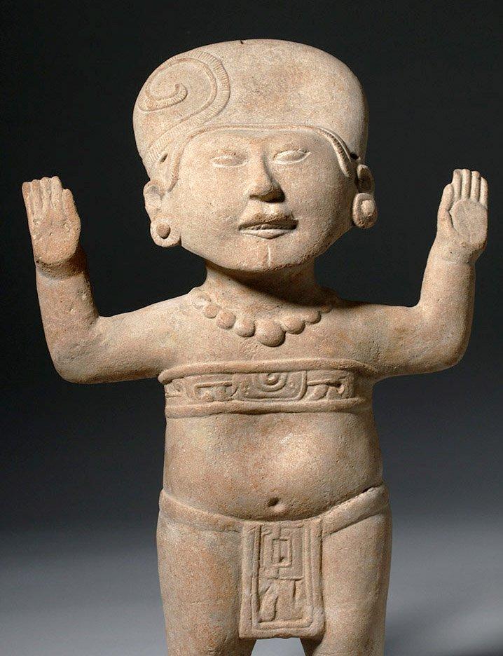 Large & Fine Veracruz Pottery Standing Sonriente - 2