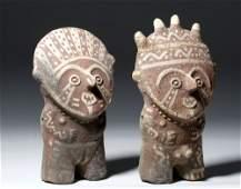 Huari / Chancay Pottery Standing Male & Female