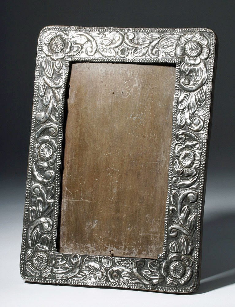 Gorgeous 19th C. New Mexican Silver Frame