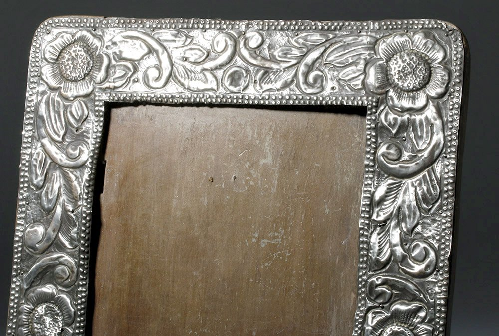 Gorgeous 19th C. New Mexican Silver Frame - 2