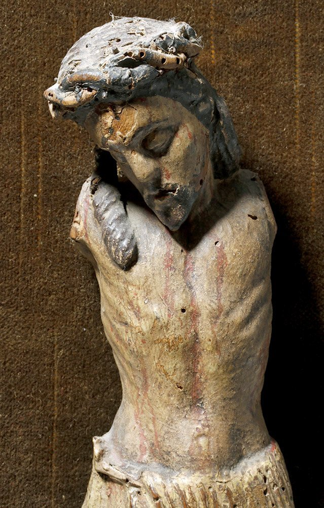 17th C. Spanish Wood Depiction of Crucified Christ - 3
