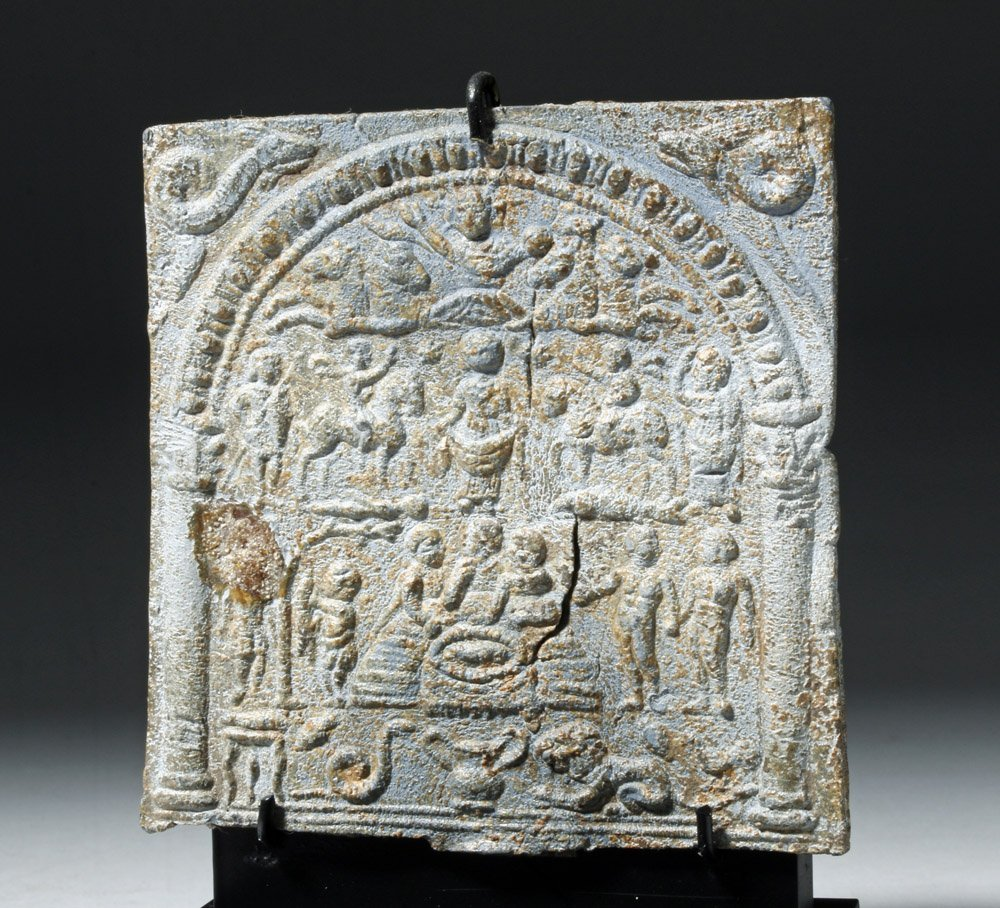 Roman Lead Mystery Cult Plaque