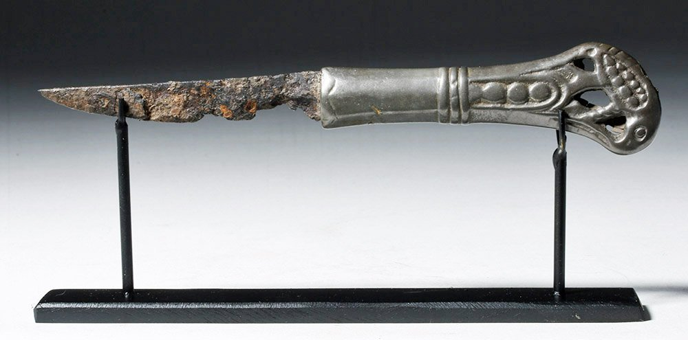 Rare Russian Perm Animal Style Bronze & Iron Knife