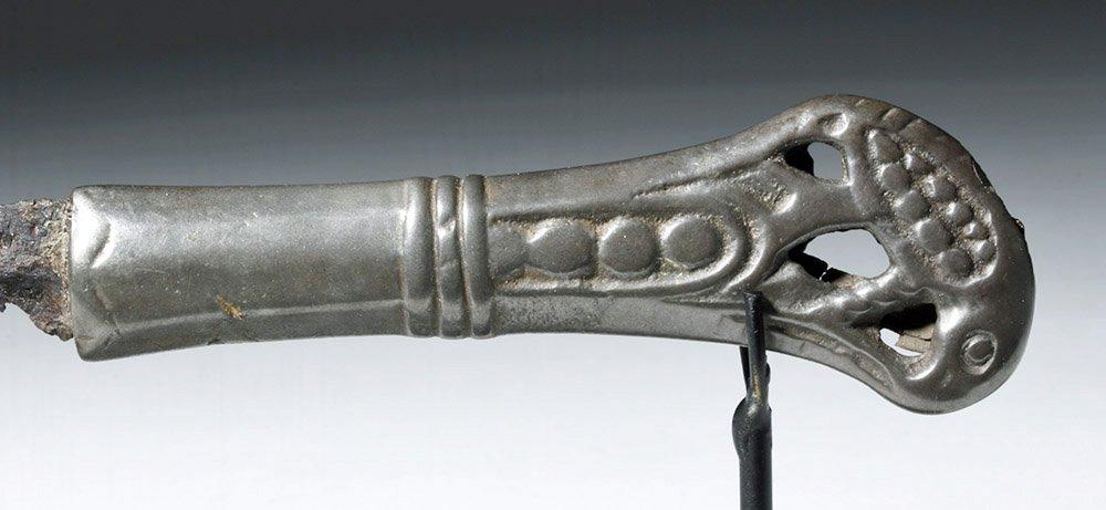Rare Russian Perm Animal Style Bronze & Iron Knife - 3