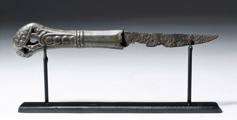 Rare Russian Perm Animal Style Bronze & Iron Knife - 4
