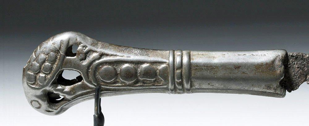 Rare Russian Perm Animal Style Bronze & Iron Knife - 5