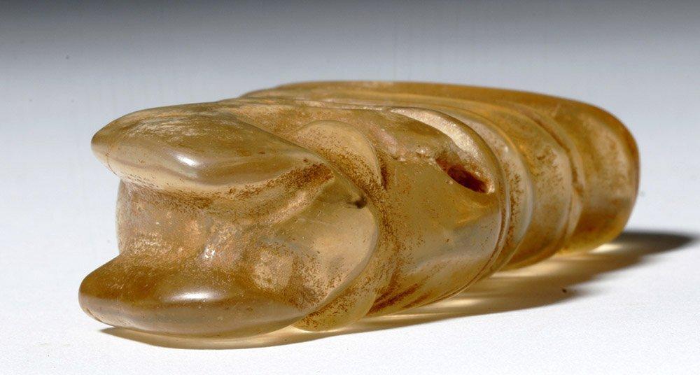 Chinese Hongshan Rock Crystal Pendant -  Pig Dragon - 7