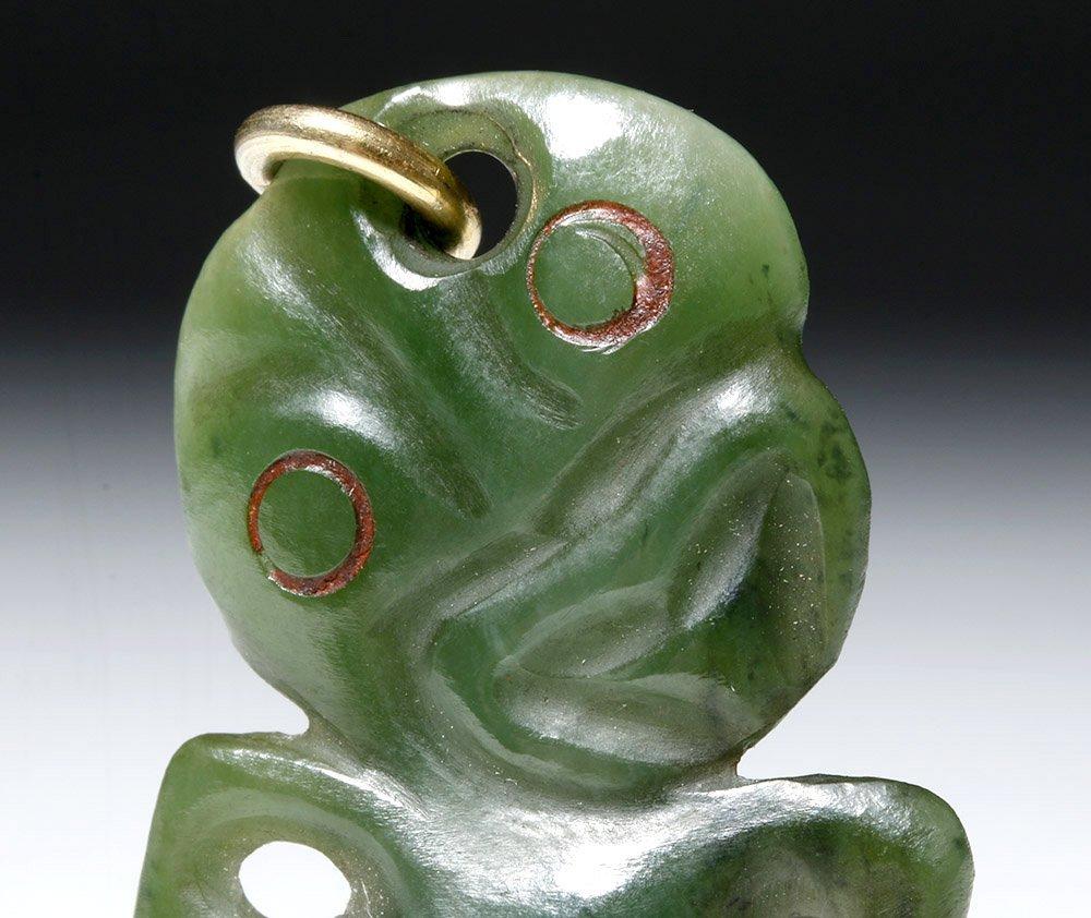 New Zealand Maori Green Stone Tiki - 2