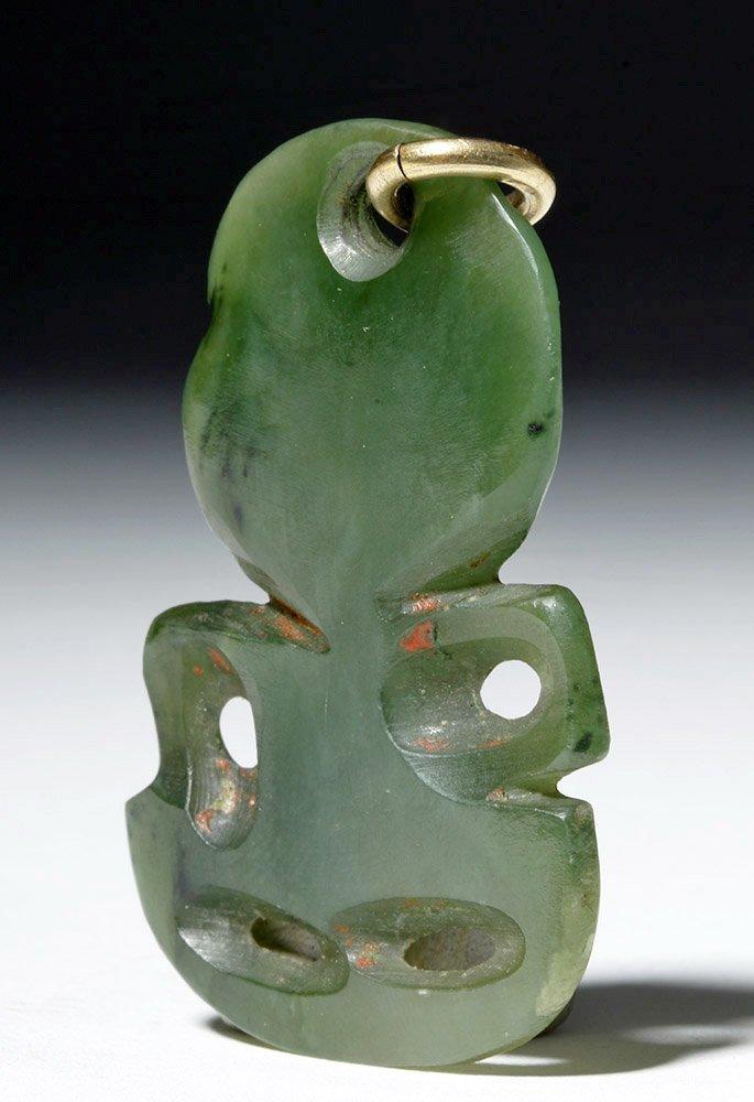 New Zealand Maori Green Stone Tiki - 4