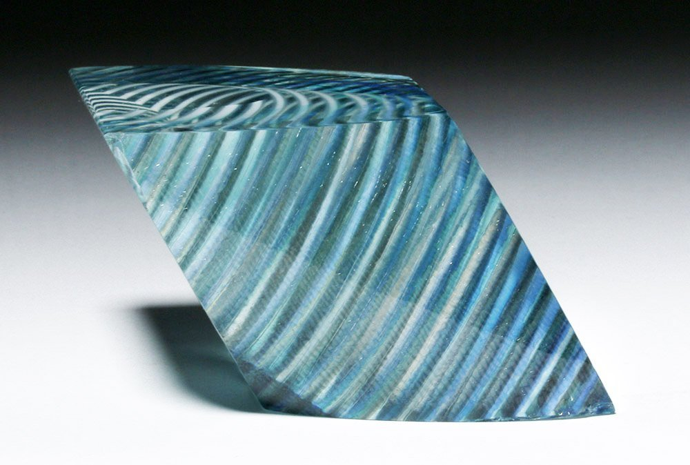Gorgeous Correia Art Glass Paperweight, James Caswell - 2