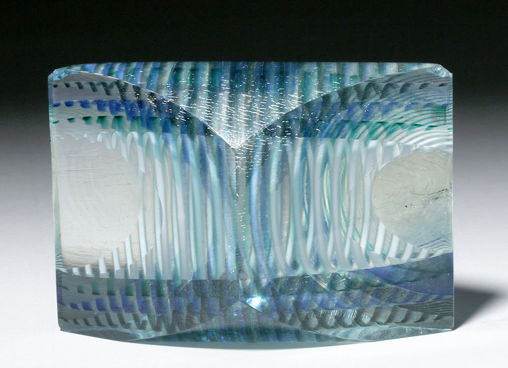 Gorgeous Correia Art Glass Paperweight, James Caswell - 5