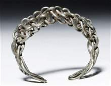 Authentic Viking Braided  Twisted Silver Bracelet