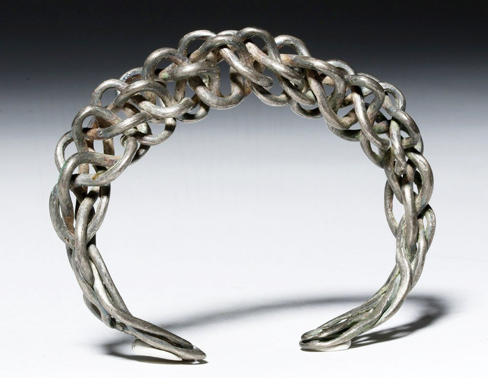 Authentic Viking Braided / Twisted Silver Bracelet