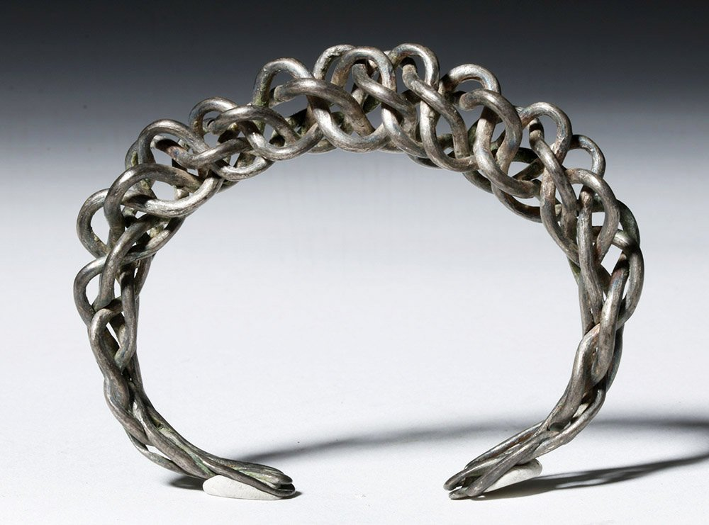 Authentic Viking Braided / Twisted Silver Bracelet - 2